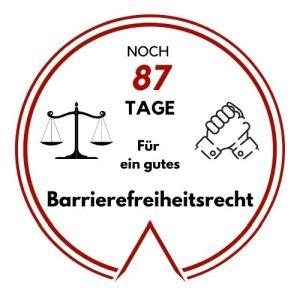 Logo: Noch 87 Tage für ein gutes Barrierefreiheitsrecht
