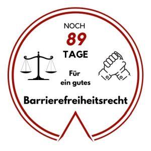 Logo: Noch 89 Tage für ein gutes Barrierefreiheitsrecht