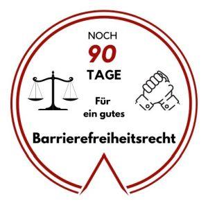 Logo: Noch 90 Tage für ein gutes Barrierefreiheitsrecht