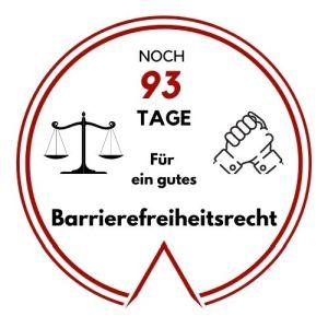 Logo Noch 93 Tage für ein gutes Barrierefreiheitsrecht