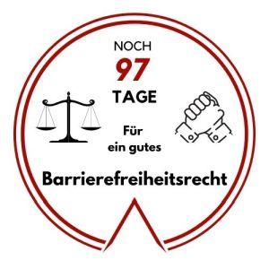 Logo: Noch 97 Tage für ein gutes Barrierefreiheitsrecht