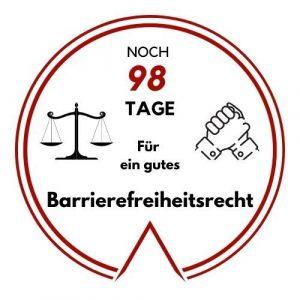 Logo: Noch 98 Tage für ein gutes Barrierefreiheitsrecht