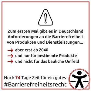 Sharepic des Projektes Barrierefreiheit: Beschreibung im Text
