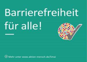 Postkarte: Barrierefreiheit für alle!