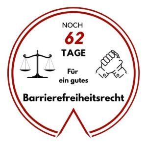 Logo: Noch 62 Tage für ein gutes Barrierefreiheitsrecht