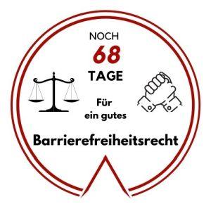 Logo: Noch 68 Tage für ein gutes Barrierefreiheitsrecht