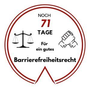 Logo: Noch 71 Tage für ein gutes Barrierefreiheitsrecht