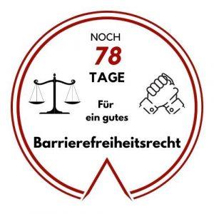 Logo: Noch 78 Tage für ein gutes Barrierefreiheitsrecht