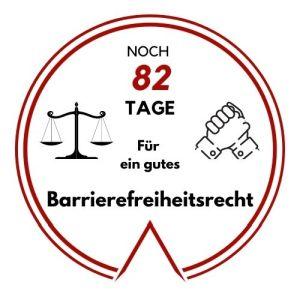 Logo: Noch 82 Tage für ein gutes Barrierefreiheitsrecht