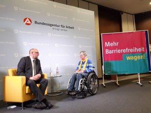 Dr. Sigrid Arnade im Gespräch mit Detlef Scheele