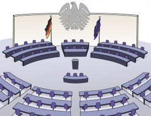 Zeichnung vom Bundestag