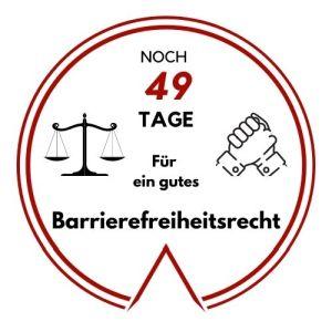 Logo: Noch 49 Tage für ein gutes Barrierefreiheitsrecht