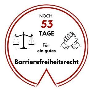Logo: Noch 53 Tage für ein gutes Barrierefreiheitsrecht
