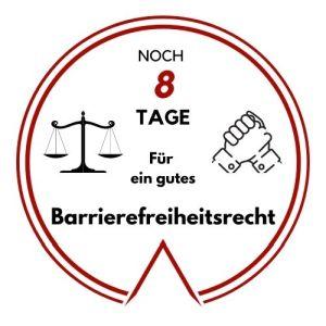 Logo: Noch 8 Tage für ein gutes Barrierefreiheitsgesetz