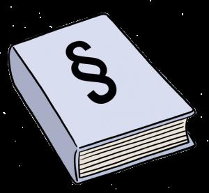 Zeichnung von einem Gesetzbuch